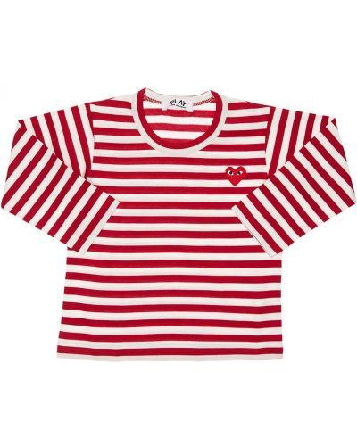 Трикотажная красная футболка в полоску Comme Des GarÇons Play