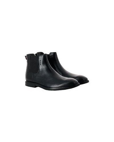 Повседневные черные кожаные ботинки челси Strellson