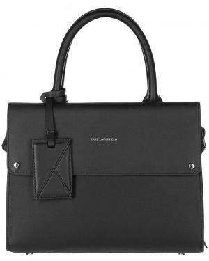 Кожаная сумка черная Karl Lagerfeld