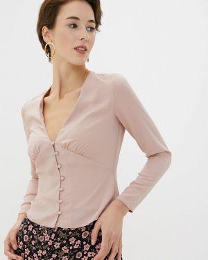 Блузка с длинным рукавом бежевый Miss Selfridge