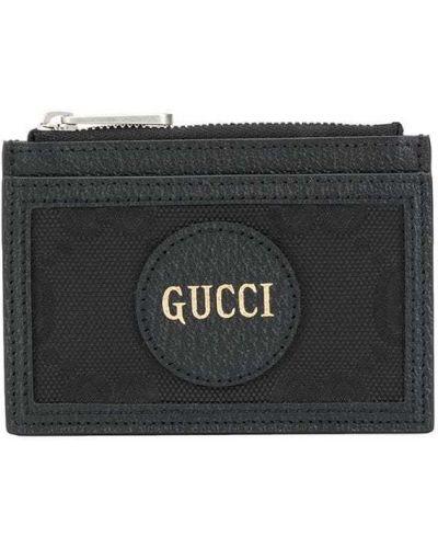 Czarny plaster wargowy z łatami z kieszeniami z gniazdem Gucci