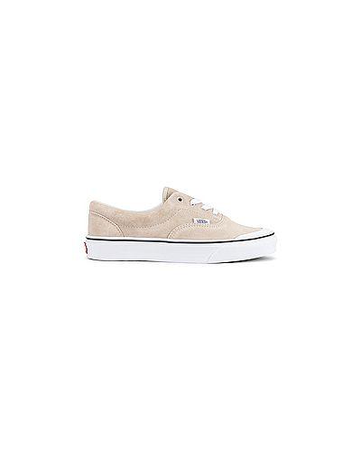 Замшевые коричневые кроссовки на шнуровке с воротником Vans