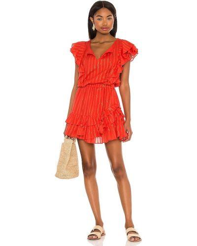Оранжевое платье мини с декольте с подкладкой Karina Grimaldi