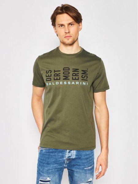 Zielona t-shirt Baldessarini