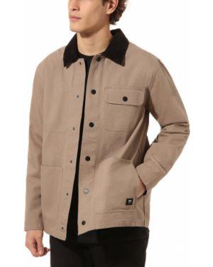 Бежевая куртка на пуговицах с карманами с воротником Vans