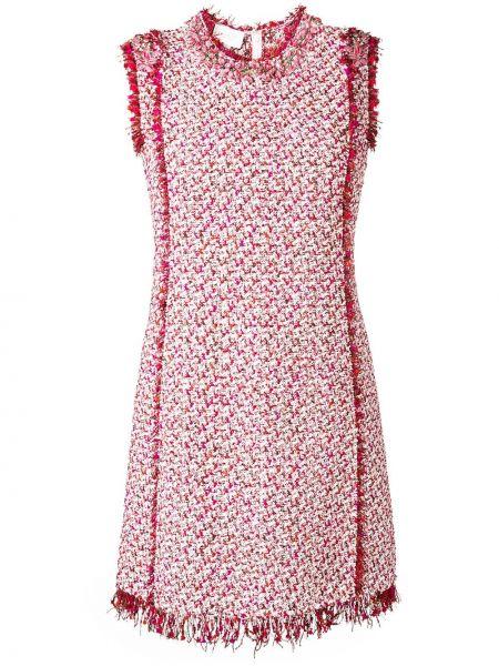 Шелковое розовое платье трапеция Giambattista Valli