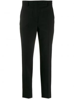 Прямые черные классические брюки с карманами Emilio Pucci