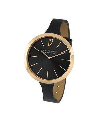 Часы на кожаном ремешке кварцевые Jacques Lemans