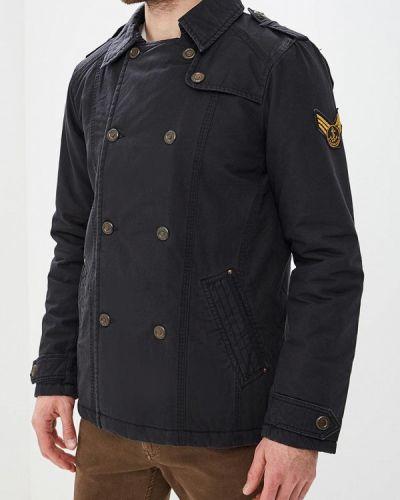 Утепленная куртка демисезонная черная Dreimaster