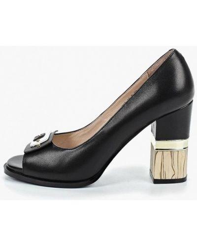 Кожаные туфли с открытым носком на каблуке Marie Collet