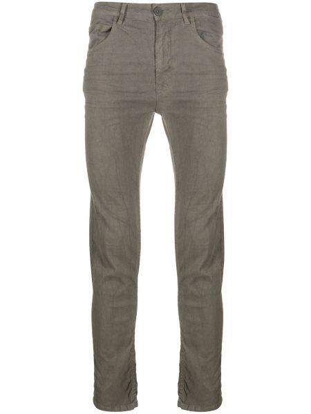Темно-серые зауженные джинсы-скинни из микрофибры с карманами Poème Bohémien