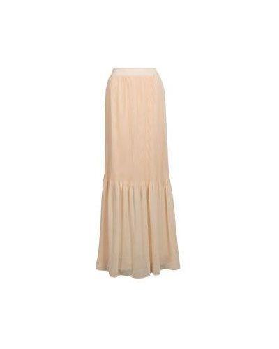Плиссированная юбка макси бежевый Blumarine
