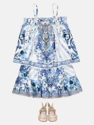 Bawełna bawełna niebieski spódnica mini Camilla Kids