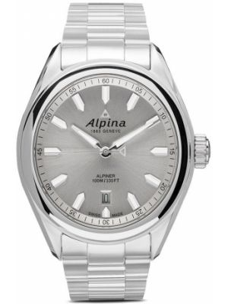 Белые кварцевые часы Alpina