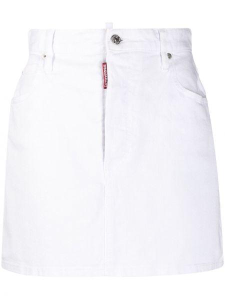 Плиссированная юбка мини на молнии с поясом Dsquared2