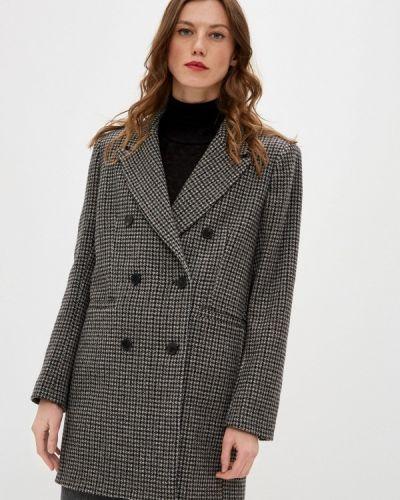 Коричневое пальто двубортное Ba&sh