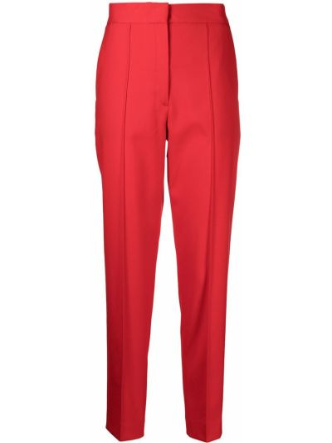 Плиссированные красные брюки из вискозы Calvin Klein
