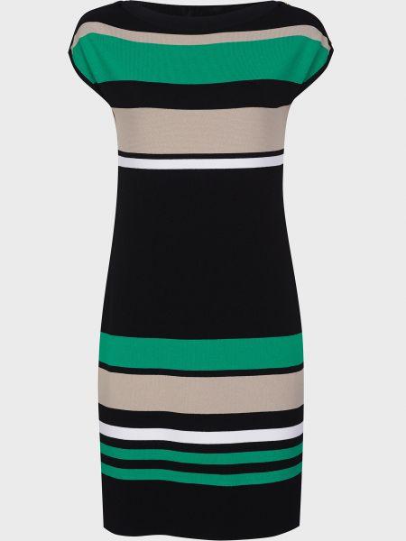 Зеленое платье на пуговицах из вискозы Luisa Spagnoli