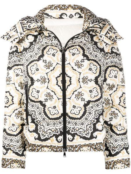 Куртка с капюшоном стеганая на молнии Moncler