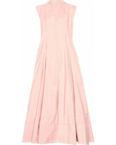 Платье макси розовое в полоску Jil Sander