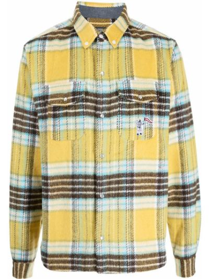 Рубашка в клетку - желтая Billionaire Boys Club