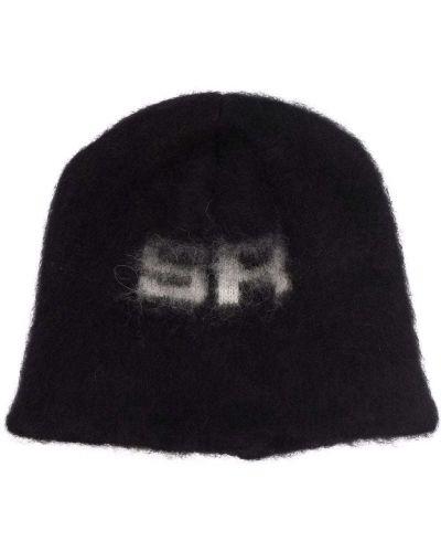 Шерстяная шапка бини - черная Sonia Rykiel
