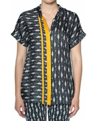 Блузка шелковая из вискозы Rene Lezard