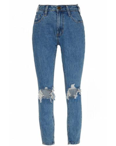 Хлопковые синие зауженные джинсы One Teaspoon