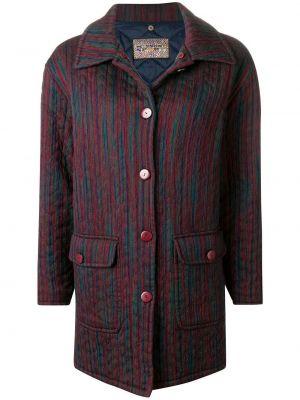 Розовое шерстяное пальто классическое с воротником на пуговицах Missoni Pre-owned