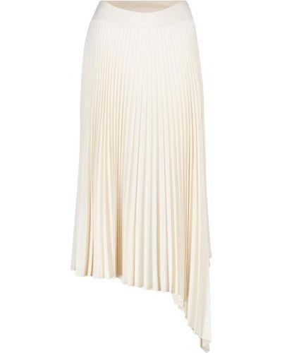 Брендовая белая плиссированная юбка миди Joseph