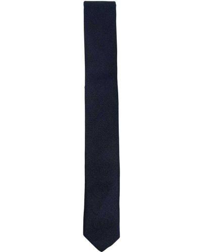 Шелковый синий галстук с вышивкой Boss Kidswear