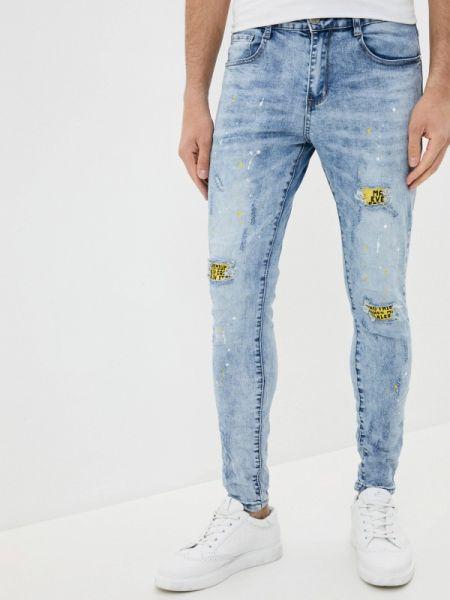 Зауженные джинсы-скинни из микрофибры Terance Kole