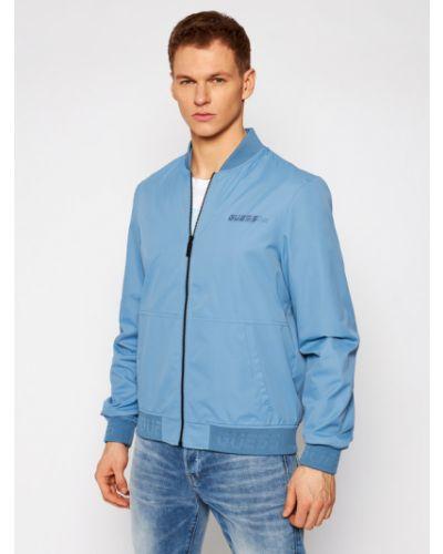 Niebieski kurtka Guess