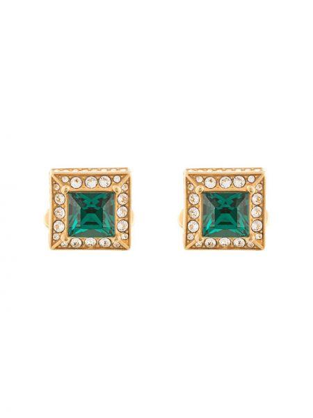Запонки из золота зеленый Dolce & Gabbana