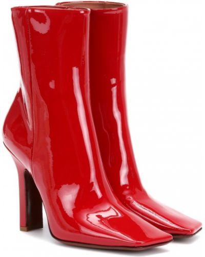 Сапоги на высоком каблуке красные Vetements