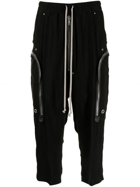 Czarne spodnie z wiskozy Rick Owens