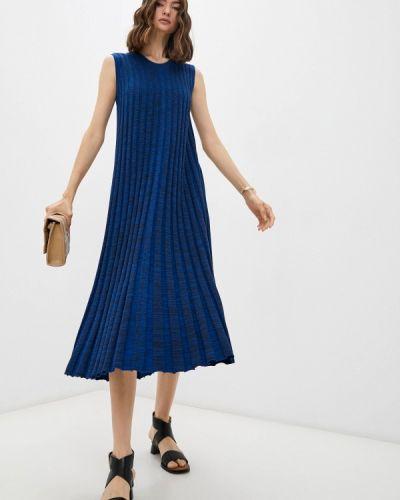 Вязаное платье - синее Joseph