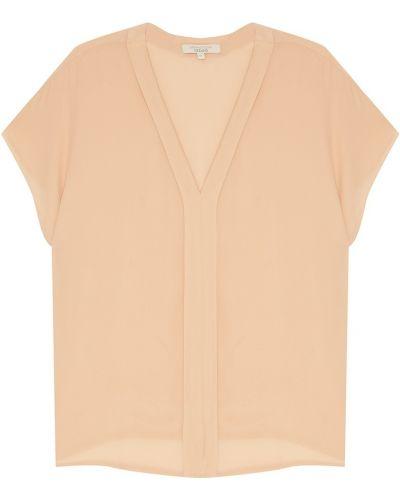Бежевая блузка с V-образным вырезом Akhmadullina Dreams