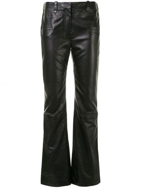 Расклешенные черные брюки с высокой посадкой с потайной застежкой Altuzarra