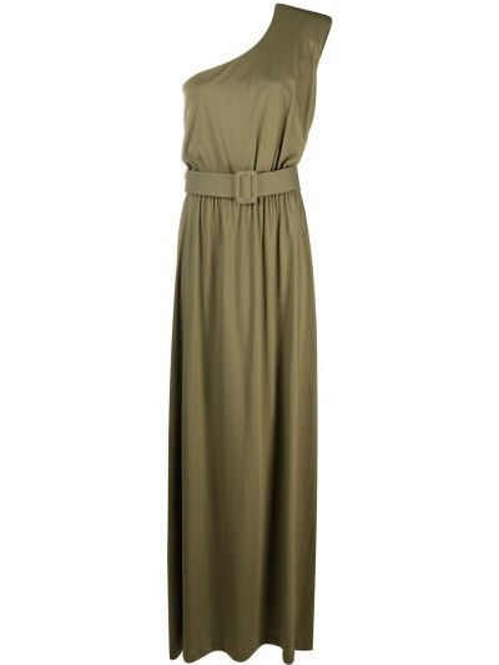 Хлопковое зеленое платье макси без рукавов Federica Tosi