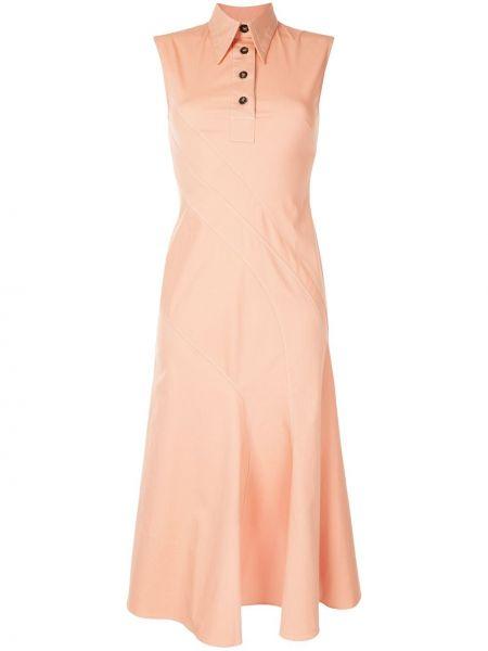 Różowa sukienka bez rękawów bawełniana Cedric Charlier