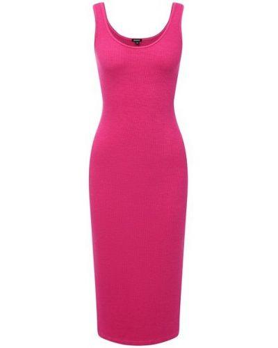 Розовое платье из вискозы Monrow