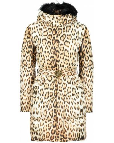 Куртка с капюшоном утепленная длинная Roberto Cavalli