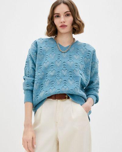 Бирюзовый пуловер Moocci