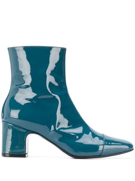 Ботинки на каблуке без каблука синий Carel