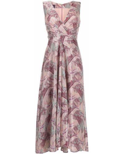 Платье с запахом - розовое Talbot Runhof