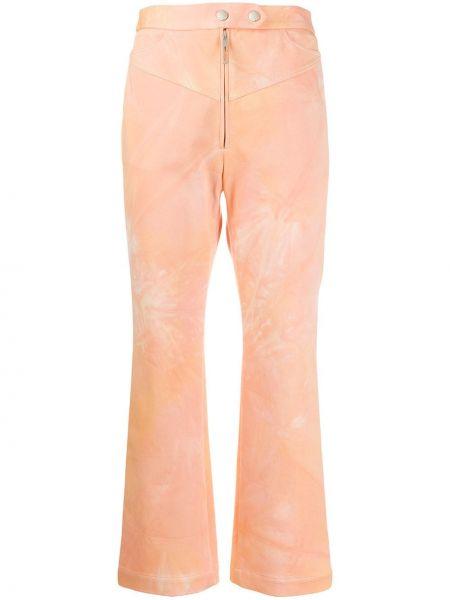 Spodnie z wysokim stanem przycięte elastyczne Ellery