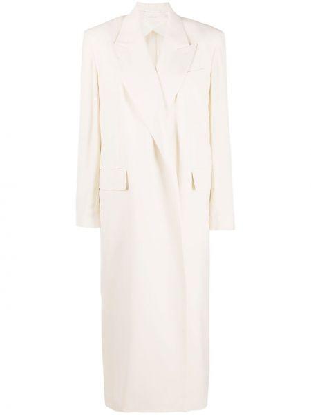 Шерстяное длинное пальто с карманами с лацканами Sportmax
