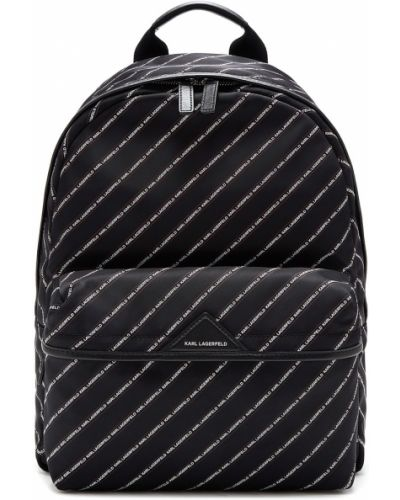 Рюкзак на молнии черный Karl Lagerfeld