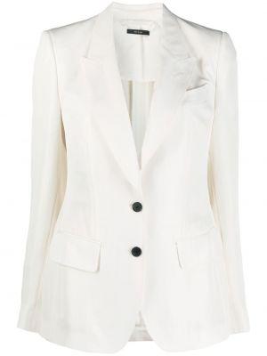Однобортный белый удлиненный пиджак с карманами Tom Ford